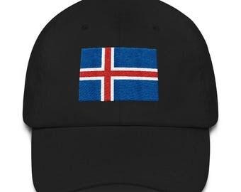 Iceland Flag Scandinavia Embroidered Hat Cap Viking Icelandic Gift