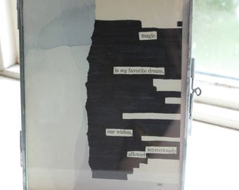 "Magic is my favourite dream - Blackout Poetry and Tea (5""x7"" Print) from Little Women Collection"