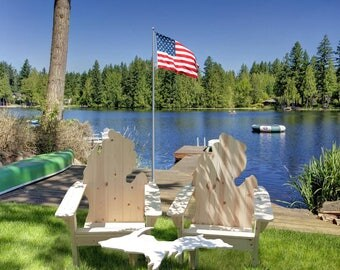 Free Shipping! Michigan Adirondack Chair