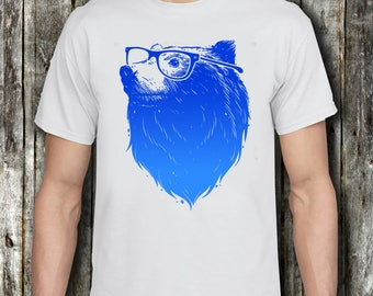 Galaxy bear shirt etsy bear with glasses t shirt grizzly bear with glasses tee shirt bear with space galaxy t publicscrutiny Image collections