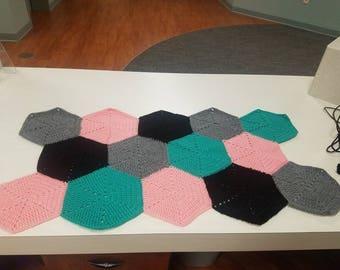 Small Hexagon Crocheted Floor Mat