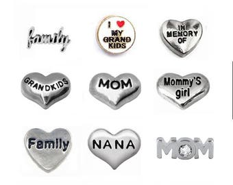 Family Floating Charm, fits Origami Owl Lockets