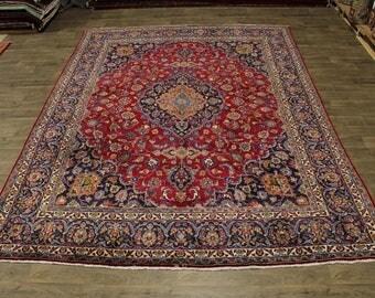 Signed Plush Traditional S Antique Mashad Persia Area Rug Oriental Carpet 10X13