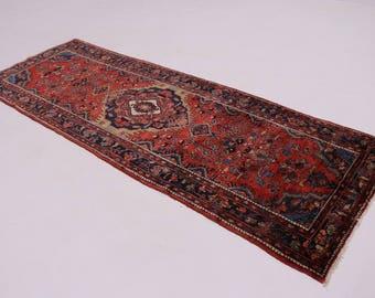 Lovely Handmade Runner Hamedan Persian Wool Rug Oriental Area Carpet Sale 4X11