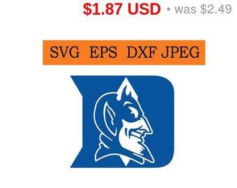 Sale 25%  -  Duke Blue Devils logo in SVG / Eps / Dxf / Jpg files INSTANT DOWNLOAD!