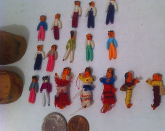 Vintage Set of Tiny Miniature People, So Small, 17 Different Little Tiny People in  a Tiny Carry Case, So Small, Artistic, Hand Crafted Art