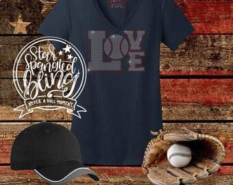 Baseball Love Spangle Rhinestone Style Bling T Shirt,Baseball Mom Bling Tshirt,Sports Mom Bling,Proud Mom Spangle Bling,Baseball Mom T Shirt