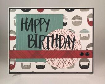 Happy Birthday card, Lumber Jack, Masculine card, Birthday Card