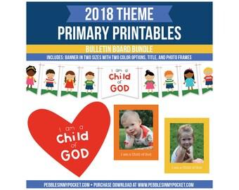 Primary 2018 Bulletin Board Bundle Digital Download