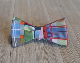 The Madras Bow-Tie | Madras Plaid, Father Son, Matching Bow Ties HANDMADE CUSTOM ORDER, Pre-Tie or Self-Tie | Mens, Boys, Toddler or Baby
