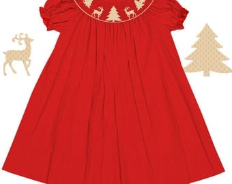 9m Reindeer Bishop Dress