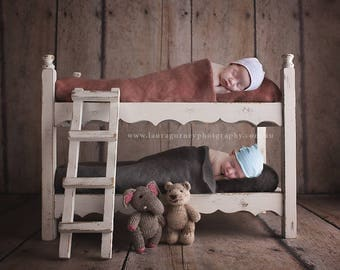 Digital backdrop bunk bed, newborn, boy, girl, twins