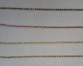 2mm Rhinestone Chain | 12 Inches or 1 foot
