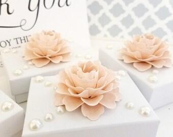 Ballet Pink Favor Box Decorations | 50 Paper Flowers | Wedding Decorations | Box Toppers | Gift Box Topper | Decorative Flower