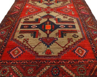 Vintage Hamadan Sarab Rug