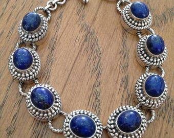Hold till 3/31/18 Sterling Silver Lapis Bracelet