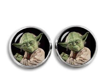 Master Yoda Stud Earrings Star Wars stud earrings Yoda Jedi Fandom Jewelry Cosplay Fangirl Fanboy