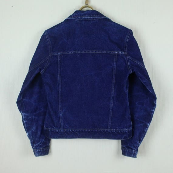 Vintage Denim Jacket 90's Jean Jacket Dark Blue Denim