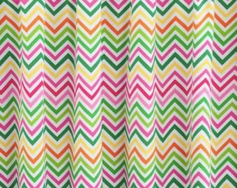PRE-WASHED KNIT Fabric, Chevron Spring Robert Kaufman Laguna Jersey, Cotton Spandex Knit, Jersey Knit Fabric