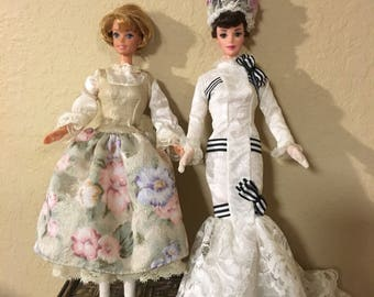 2 Vintage Hollywood Legends Barbies, Eliza Doolittle, My Fair  Lady. Sound Of Music Maria, barbie doll
