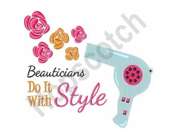 Hair Dryer - Machine Embroidery Design