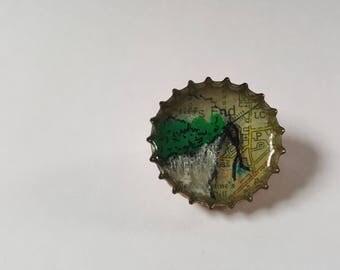 Cliffs End Bottle Cap Pin Badge