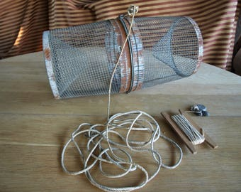 Vintage Gee Minnow Trap – Wire Bucket Trap