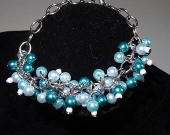 Unique Blue Blossom bracelet