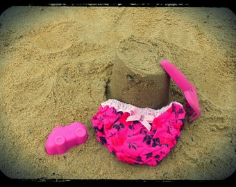 """swimsuit T 6 m/1 year """"roses on pink!"""""""