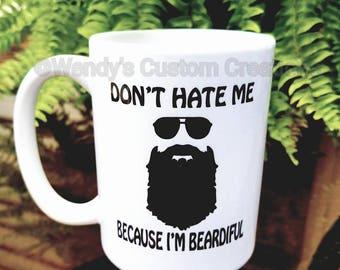 Beardiful  - Coffee Mug - Beard Cups - Wedding Gifts For Couple - Gift for him - Funny Coffee Mug - Father's day- sun glasses