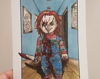 Villain Clans Chucky (Child's Play) - A6/A5/A4 print on acrylic paper