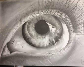 GRAPHITE DRAWING artwork eyes