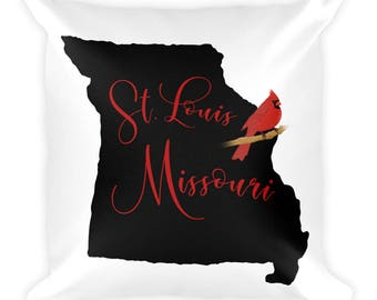 St. Louis Missouri The Show Me State Square Pillow