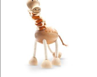 Sustainable wooden Giraffe toy
