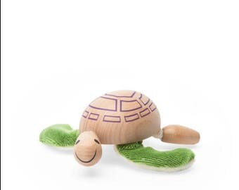 Sustainable wooden Turtle toy
