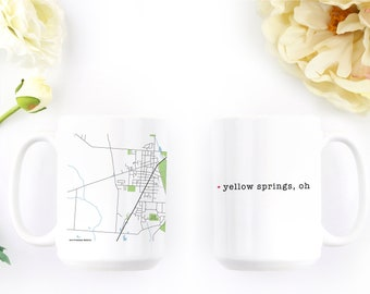 Coffee Cup - Yellow Springs - Deployment Gift - Coffee Mug - Ohioan - Farewell Gift - Unique Coffee Mug - New Home Gift