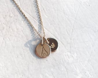 Castle Necklace - Double Charm