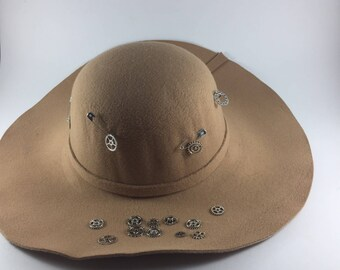 Vintage Beaver Hats Camel Wool  Fur Felt Fedora Trilby Hamburg Hat