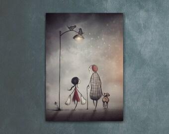 ACEO, Artist Trading Card, Cute Art, Illustration, Drawings, Digital Painting, Stocking Stuffers, Mini Art, Under 5 Gifts, 2.5 x 3.5 Art