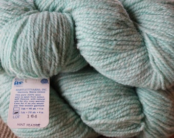 Mint Heather 2 ply worsted weight Bartlettyarns sale