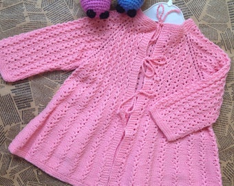 Baby Girl's Clothing - 24 months, Knitted girl coat, Knitted baby coat, Baby coat, Knitted baby jacket, Baby cardigan, Hand knit