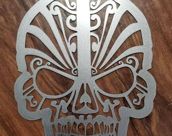 Sugar Skull Metal Art