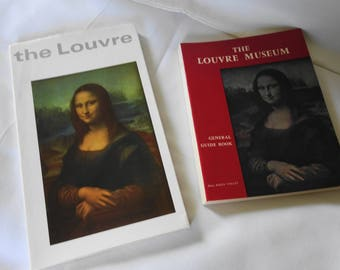 """Vintage """"the Louvre"""" and The Louvre Museum Paperback Books Lot of 2"""