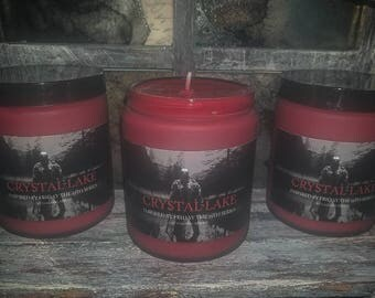 Crystal Lake, Frosted Glass 8oz candle