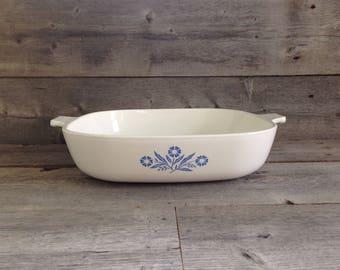 Vintage Corning Ware Blue Cornflower Casserole Dish P-10-B, no lid