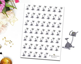 Excercise Bike Icons/Workout/Fitness Planner Stickers for Erin Condren Planner/Happy Planner/Personal Planner/Travelers Notebook/Functional