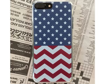 American Flag iPhone Case- Preppy iPhone Case