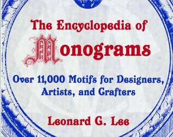 Encyclopedia of Monogram, book, hand embroidery, soft cover