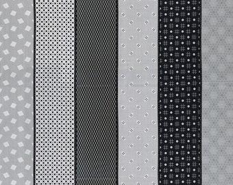 1 yard-  Moda-  Lollies - Sweetie Black Grey - 18130 18 - Moda Grey - quilt cotton fabric designed - Jen Kingwell