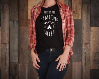 Camping shirt, camping, shirt,